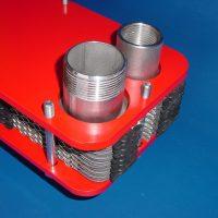 Plattenwärmetauscher mit Edelstahl / Titan Aschluss